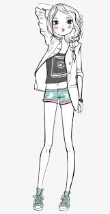 Vector Simple Pen Fashion Girl Vector Jane Pen Fashion Girl Png