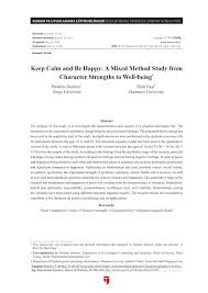 (PDF) <b>Keep Calm and Be</b> Happy: A Mixed Method Study from ...