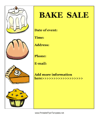 Bake Sale Flyer Templates Free Bake Sale Flyer