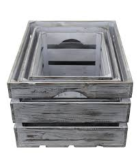 love this product gray wash wood crate set