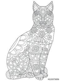 Printable Colouring Pages Of Cats And Dogs Cat Coloring Pages For