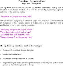 Top Down Design Definition Functional Decomposition Top Down Development Pdf Free