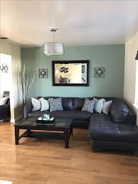 Finally done with living room, new light fixture, sage green accent wall,  added