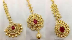 Gold Nethichutti Designs Gold Tikka Designs Nethi Chutti Designs