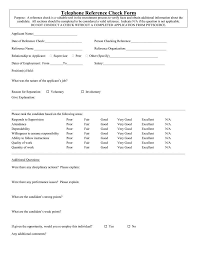 12 Reference Checking Forms Templates Pdf Doc Free