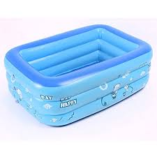 blue kid pool portable inflatable kids pool bathtub kid toddler infant newborn foldable shower pool travel for 0 36 months baby 47 24 x 27 56 x 13 7