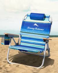 Beach umbrella and chair Clamp Blue Stripe Deluxe Backpack Beach Chair Grand Strand Resorts Beach Chairs Umbrellas Tommy Bahama