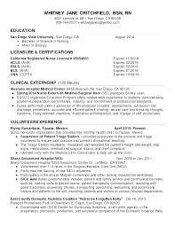 Entry Level Registered Nurse Resumes Objective Nursing Resume Sample For Registered Nurse Graduate