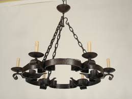 image of unique wrought iron chandeliers