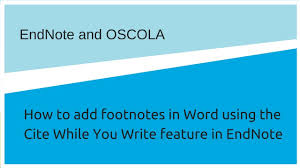 How To Insert Footnotes In Word Using Endnote