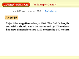 guided practice for examples 3 and 4 x 200 or x 1500 solve