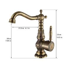 brushed brass bathroom faucet. Antique Brass Bathroom Faucet By WANFAN | Copper/Antique Copper - Final Faze Co. Brushed B