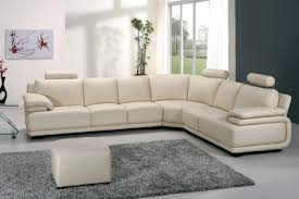 a31 modern cream leather sectional sofa