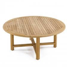 large round teak dining table