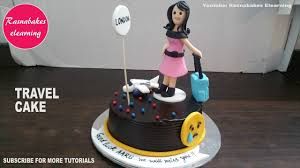 Good Luck Cake Designs Travel To London Miss You Cake Design Ideas Decorating Tutorial Video Classes Courses At Home