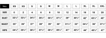 Size Chart Love Terri Shop