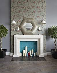fake fireplace design for apartment