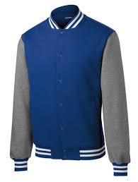 custom mens fleece letterman jacket