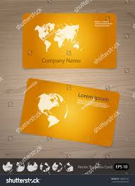 Design Your Own Change Of Address Cards Vector Business Card Globe World Map Stock Vector Royalty