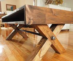 Unique coffee table designs can set the room's atmosphere, whether it's to save space, create impressive focal point, or simply look stylish or strange. X Leg Coffee Table 9 Steps With Pictures Instructables