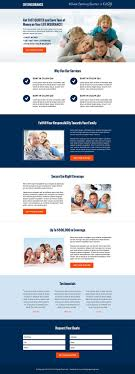 clean and professional money saving life insurance free quote call to action landing page email templatesdesign templateswebsite