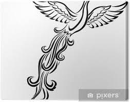 Obraz Phoenix Pták Tetování Na Plátně