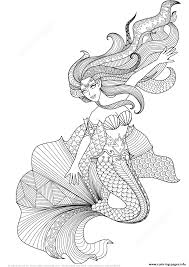 These half woman, half fish creatures have been part of legends of sailors for centuries that it is difficult today to know the origin. Mermaid Zentangle Adults Coloring Pages Printable