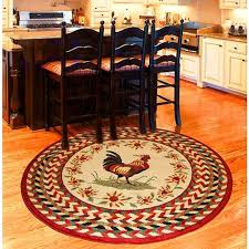 round rugs for under kitchen table style