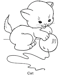 Furry, finicky, fun—these are just some words to describe this cute little feline friend many people definitely adore. Cat Coloring Pages Coloring Rocks
