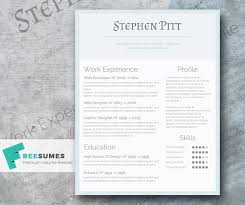 Cold As Ice The Simplified Freebie Resume Design Freesumes