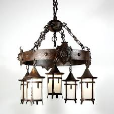 arts and craft chandeliers sold rare antique arts crafts chandelier with monks heads c vintage arts arts and craft chandeliers