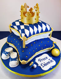 Royal Blue And Gold Baby Shower Pillow Cake Cakes Baby Shower