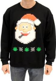 Ugly Christmas Marijuana Christmas Tree Sweatshirt | Cannabis ...