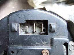 alternator terminals image from moss usa showing a european or type b three pin connector two large output spades and the smaller indicator spade but also two additional