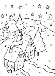 Small Picture Winter Snow Coloring Pages Winter Coloring Page Kids Making