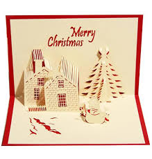 Buisness Greeting Cards 3d Three Dimensional Greeting Card Business Blessing Christmas