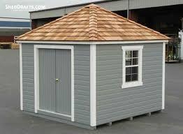 8x12 hip roof storage shed plans blueprints