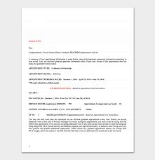 Teacher Appointment Letter 12 Sample Letters Formats