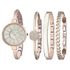 anne klein women s ak 1470rgst rose gold tone bangle watch and anne klein women s ak 1470rgst rose gold tone bangle watch and bracelet set