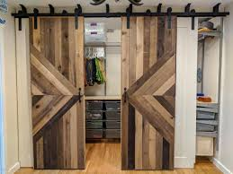 walk in barn door closet