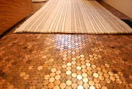image of cool penny tile floor