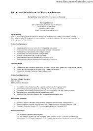 Entry Level Administrative Assistant Resume Samples Office Release