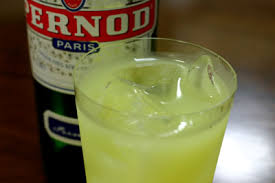 glass of Pernod with ice, Pernod in pub