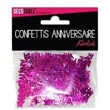 Confettis de table Joyeux Anniversaire Fuschia