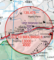 Switzerland Wallchart Icao Vfr Aeronautical Chart 500k 2019
