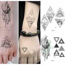Rejaski мужская рука сердце переводные татуировки с тотемами женские
