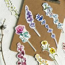 <b>30 pcs</b> Flower label plant Student Stationery Bookmark <b>Paper</b> Cartoon