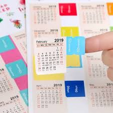 Schedule Calender Us 0 85 2 Pcs New 2020 2019 Year Mini Calendar Stationery Index Decorative Stickers Label Calendar Sticker Diy Work Schedule Calendar In Calendar