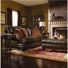 bernhardt living room furniture. Bernhardt Foster Leather Sectional Sofa With Nailhead Trim Living Room Furniture