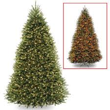 National Tree Pre-Lit 9' Dunhill Fir Hinged Artificial Christmas Tree with  900 Low